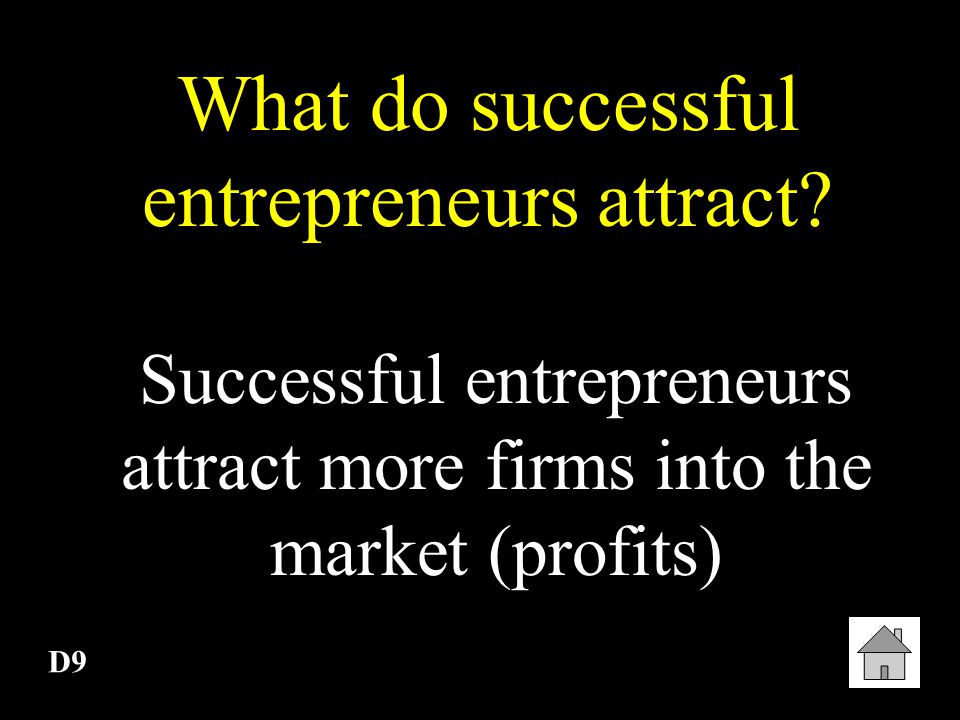 What do successful entrepreneurs attract