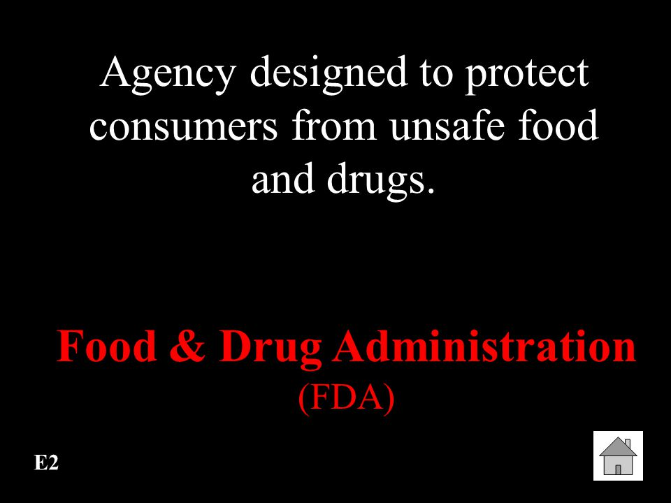Food & Drug Administration (FDA)