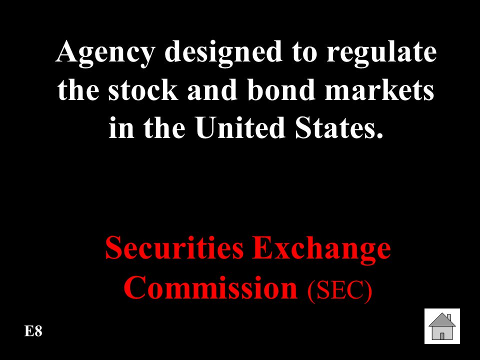 Securities Exchange Commission (SEC)