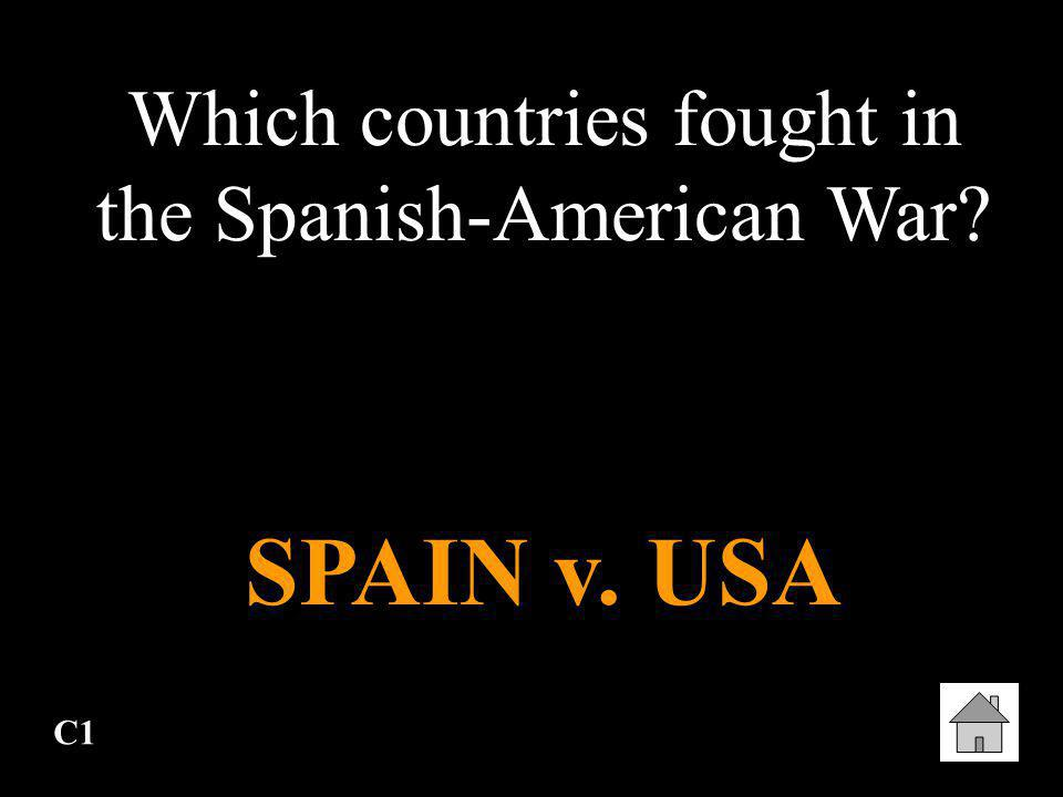 Which countries fought in the Spanish-American War