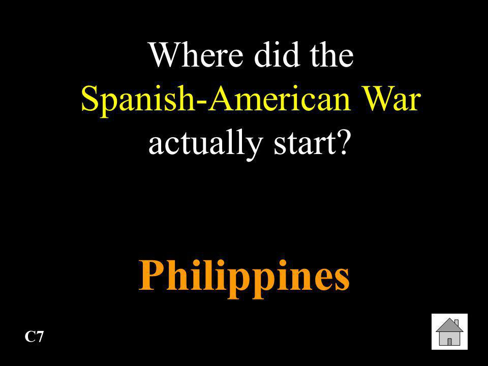 Where did the Spanish-American War actually start