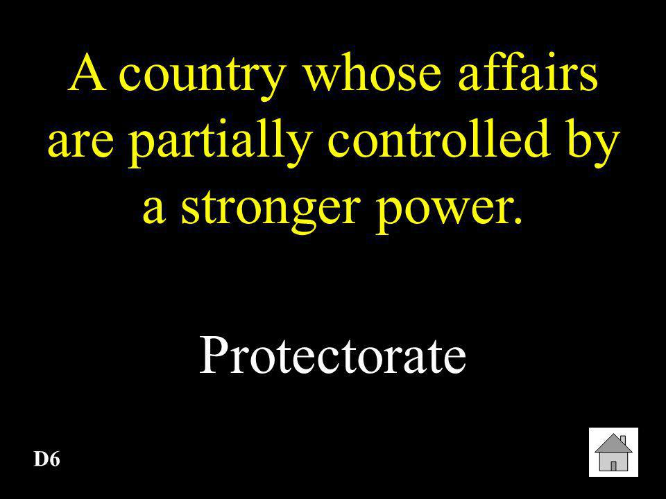 A country whose affairs are partially controlled by a stronger power.