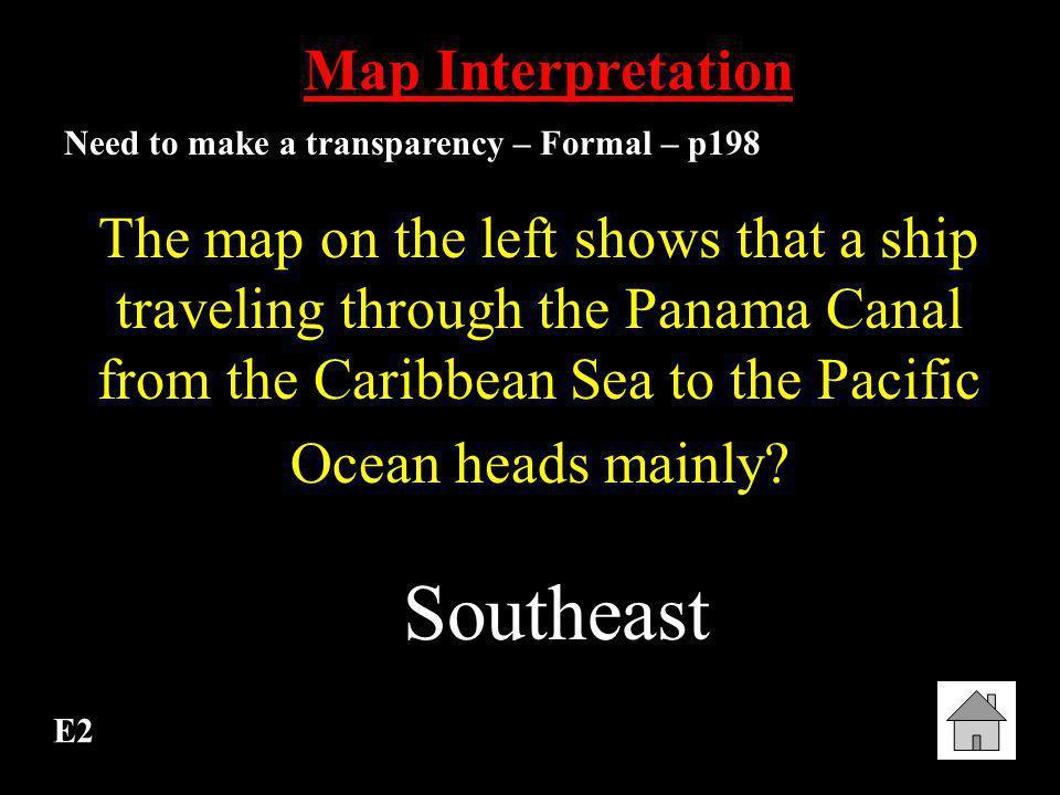 Southeast Map Interpretation