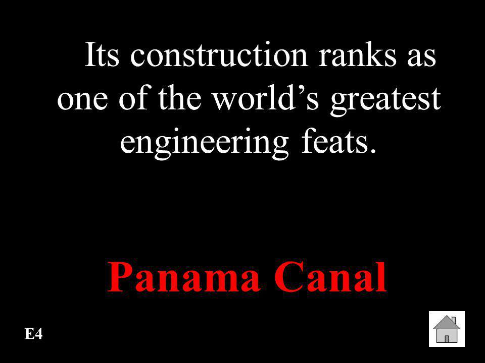 Its construction ranks as one of the world's greatest engineering feats.
