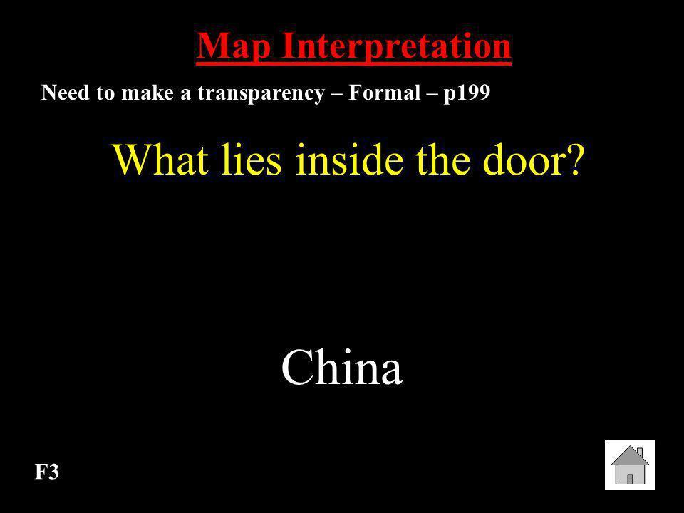 What lies inside the door