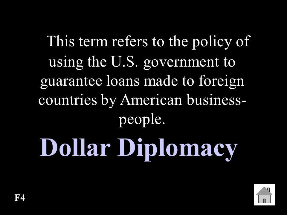 This term refers to the policy of using the U. S