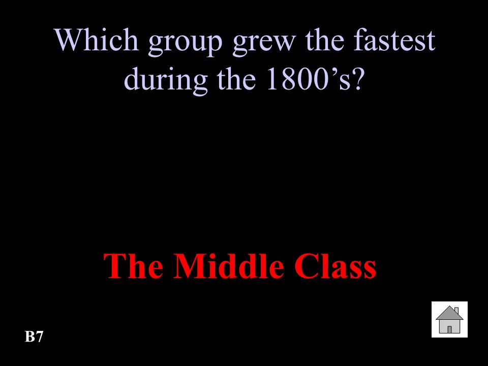 Which group grew the fastest during the 1800's
