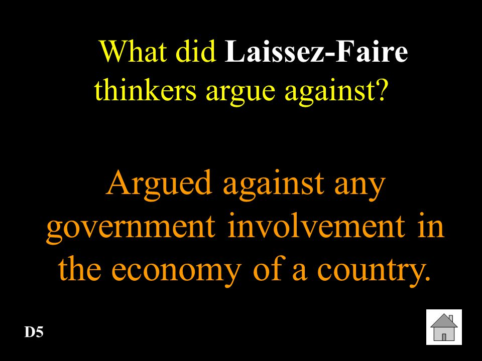 Argued against any government involvement in the economy of a country.