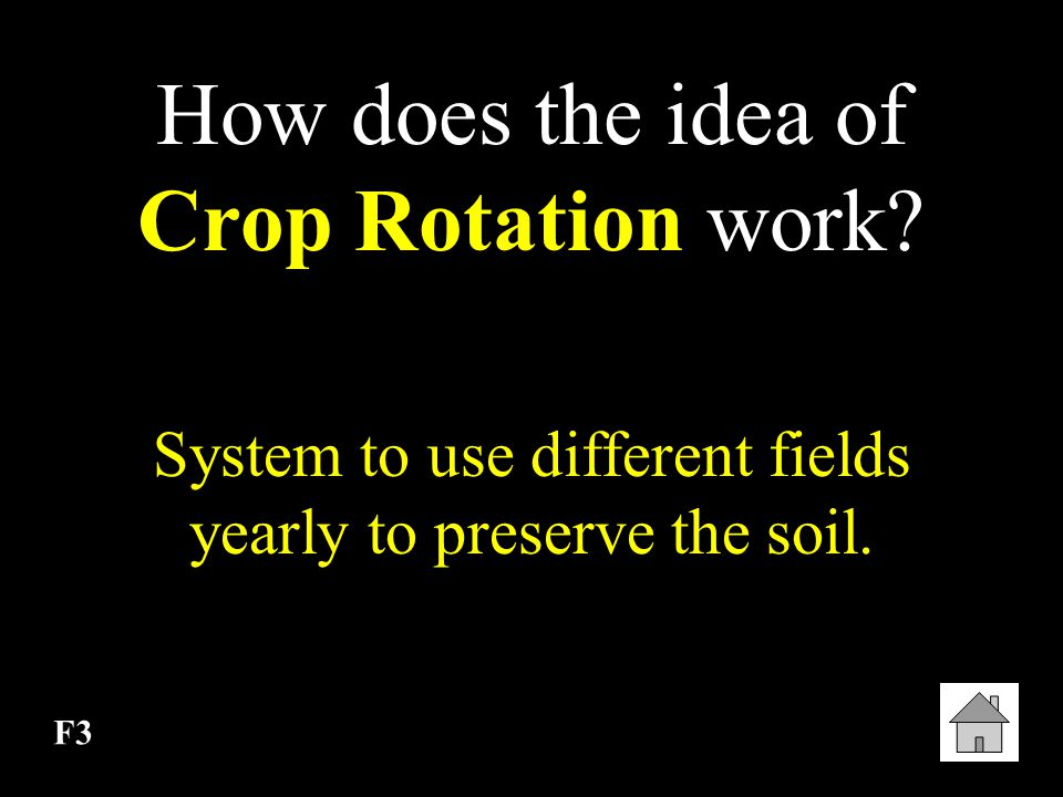 How does the idea of Crop Rotation work