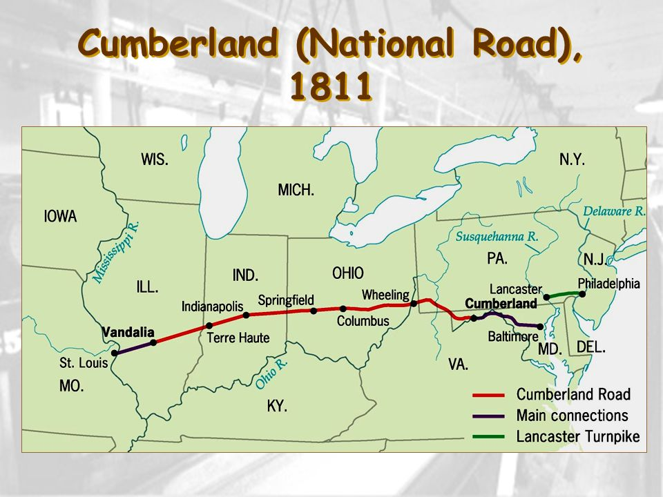 Cumberland (National Road), 1811