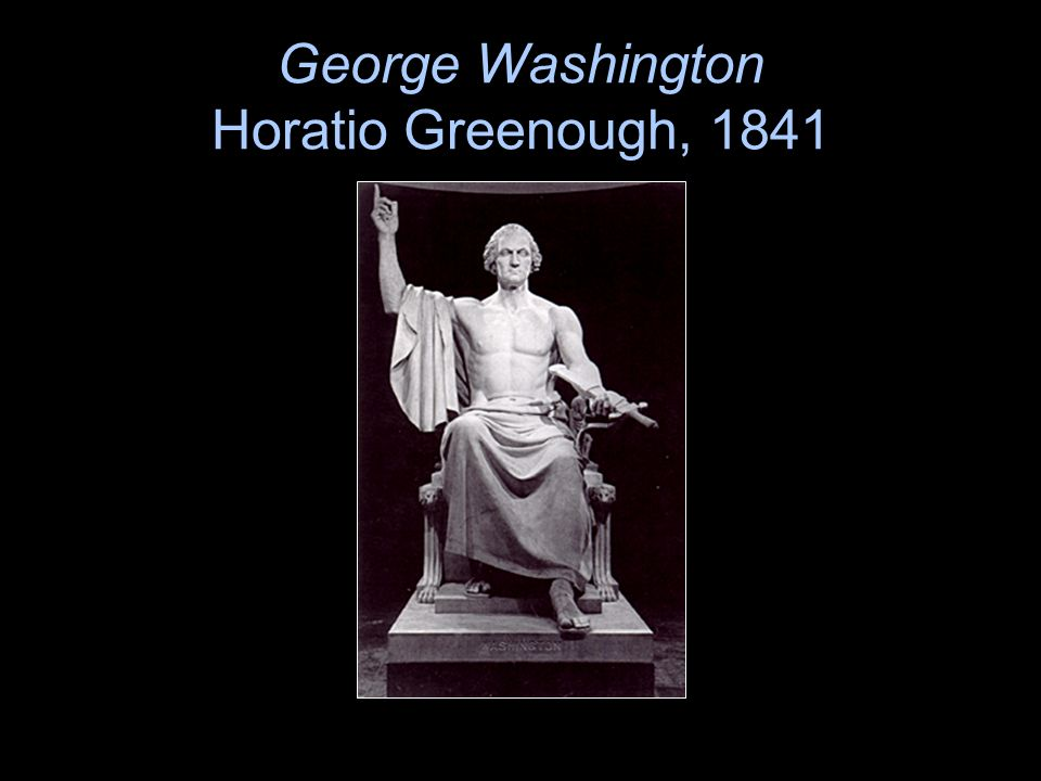 George Washington Horatio Greenough, 1841