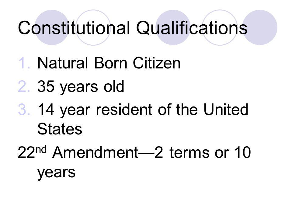 Constitutional Qualifications