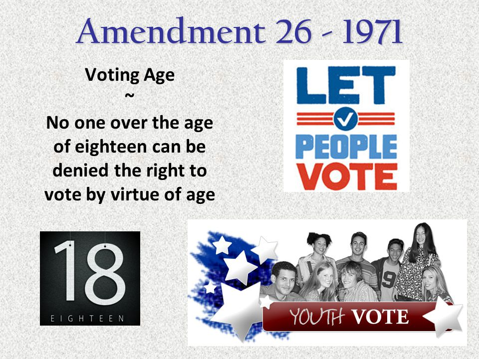 Amendment 26 - 1971 Voting Age ~