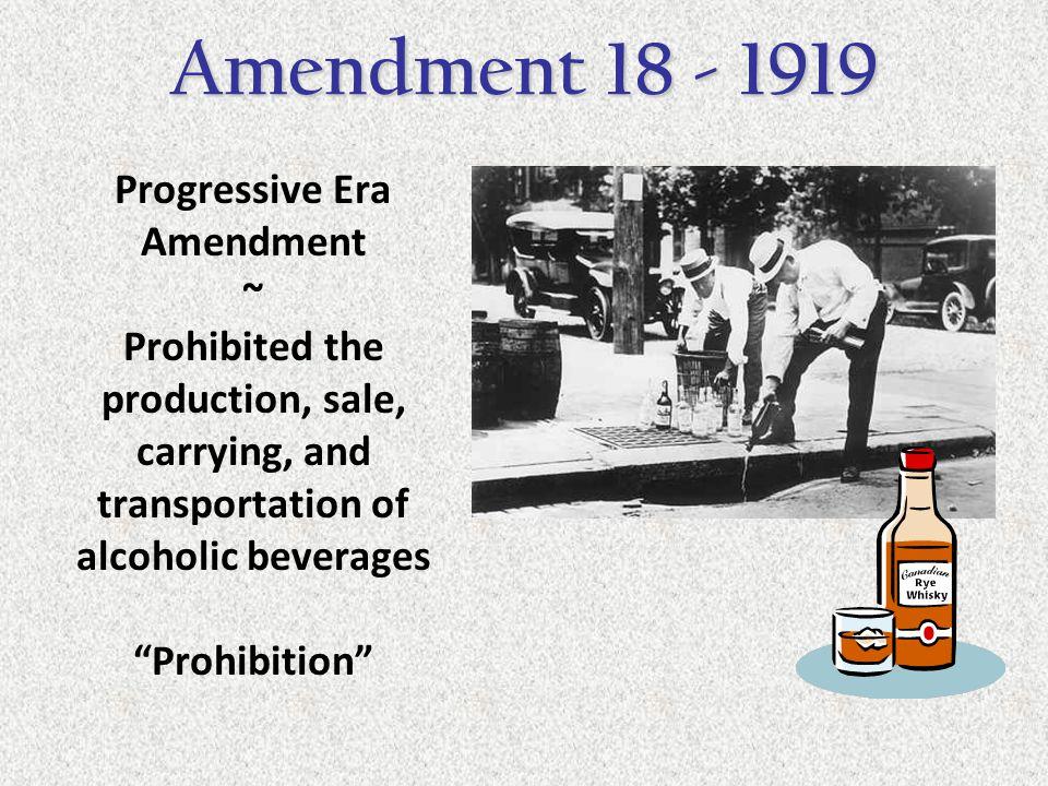 Progressive Era Amendment