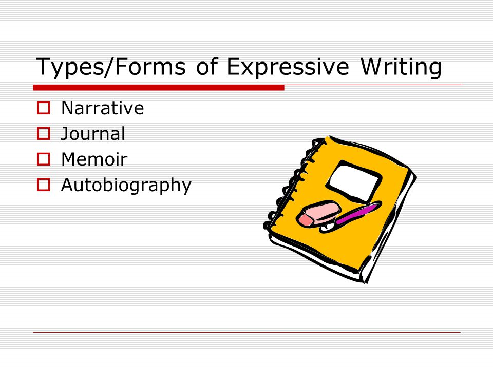 Types/Forms of Expressive Writing