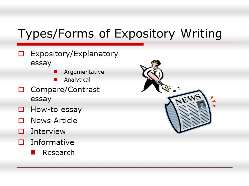 Types/Forms of Expository Writing