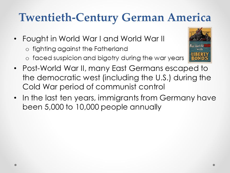 Twentieth-Century German America