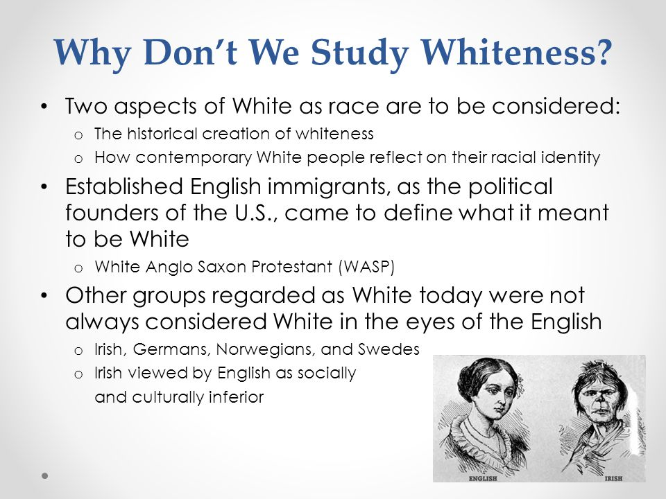 Why Don't We Study Whiteness