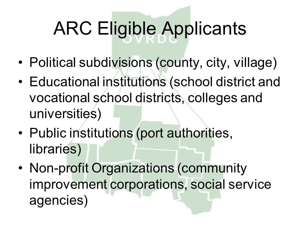 ARC Eligible Applicants