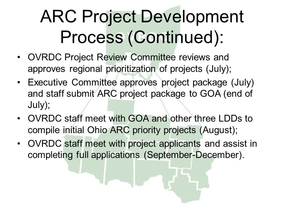 ARC Project Development Process (Continued):