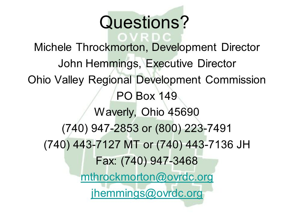 Questions Michele Throckmorton, Development Director