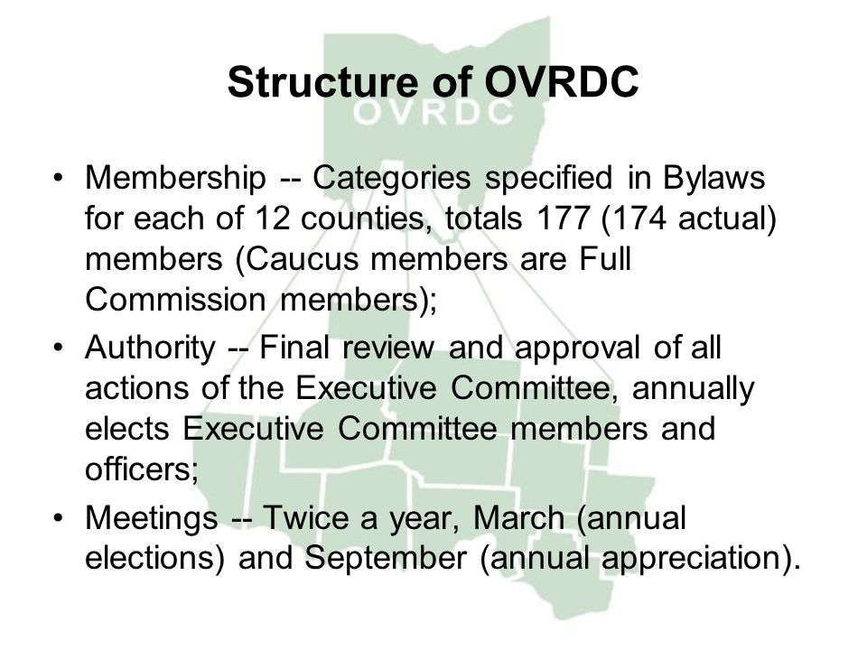 Structure of OVRDC