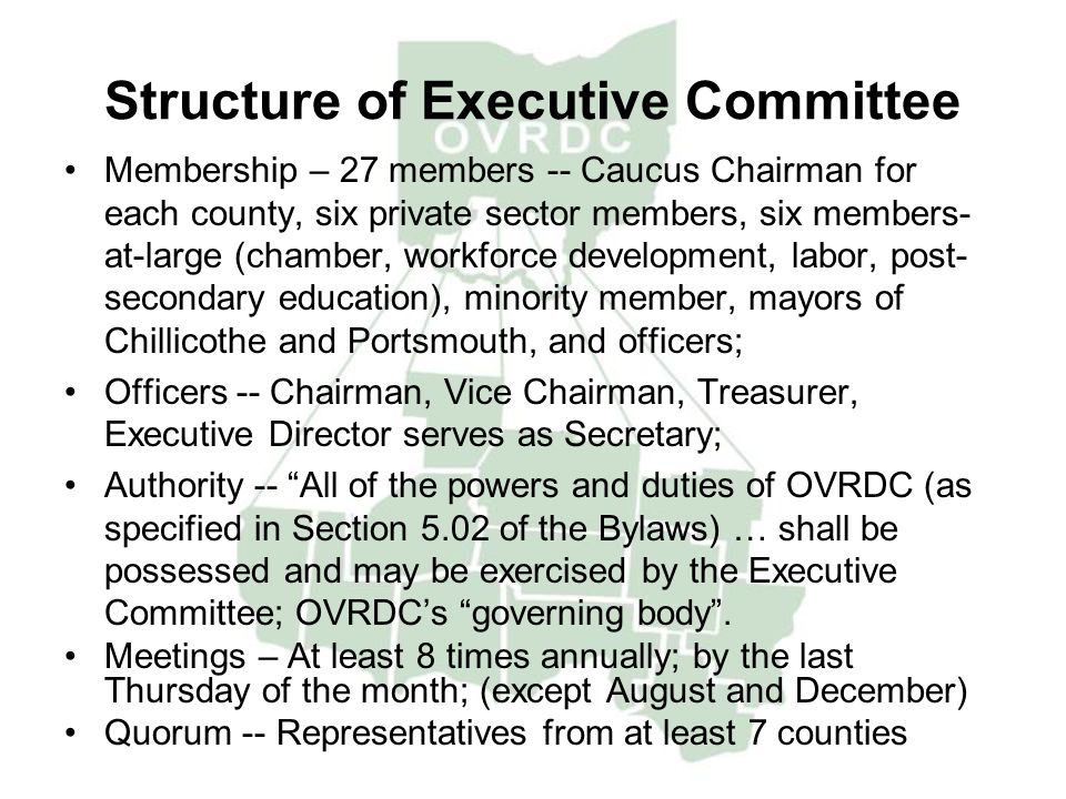 Structure of Executive Committee
