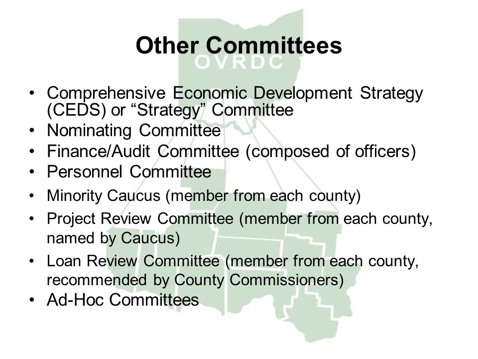 Other Committees Comprehensive Economic Development Strategy (CEDS) or Strategy Committee. Nominating Committee.