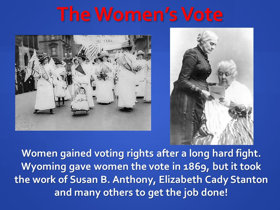 The Women's Vote