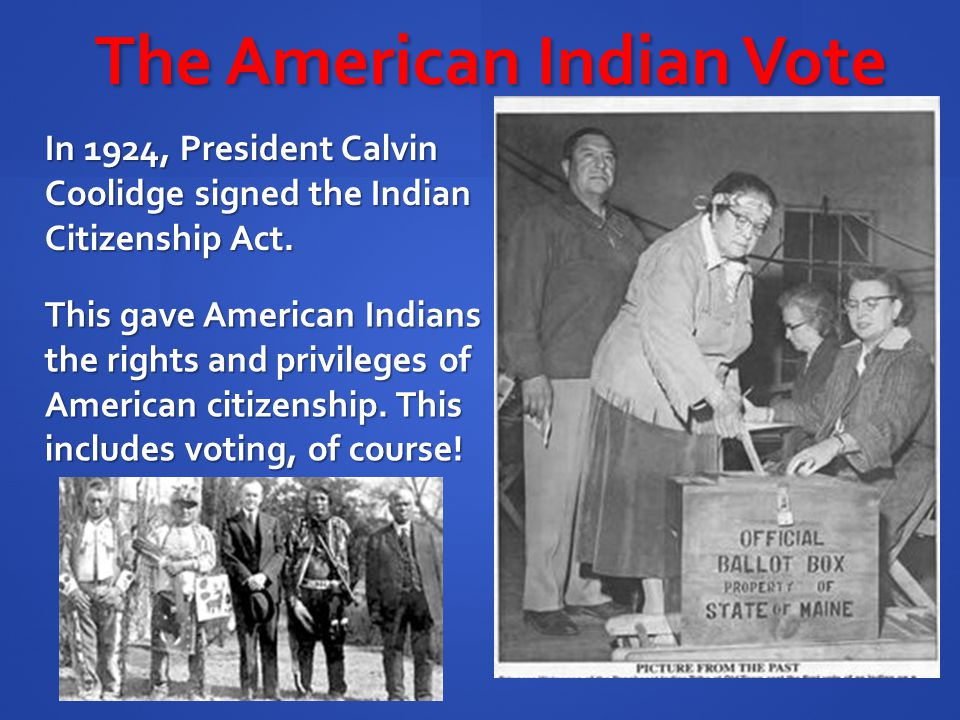 The American Indian Vote
