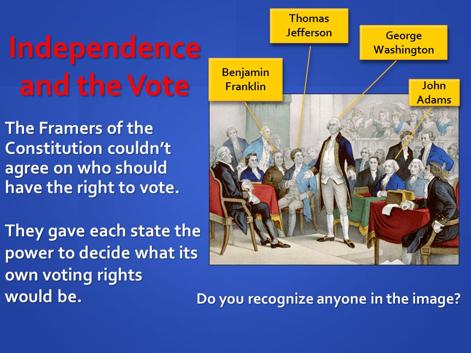 Independence and the Vote
