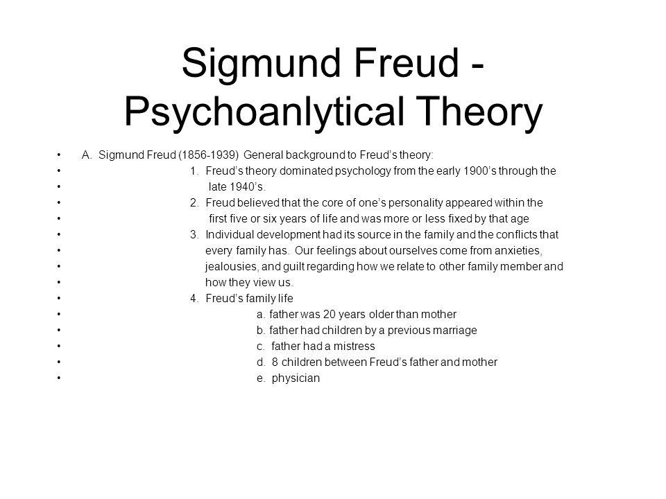 Sigmund Freud - Psychoanlytical Theory