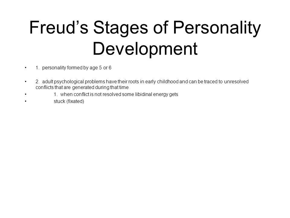 Freud's Stages of Personality Development