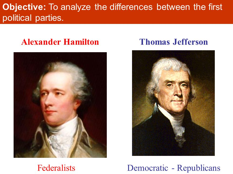 The Federalists and the Democratic Republicans