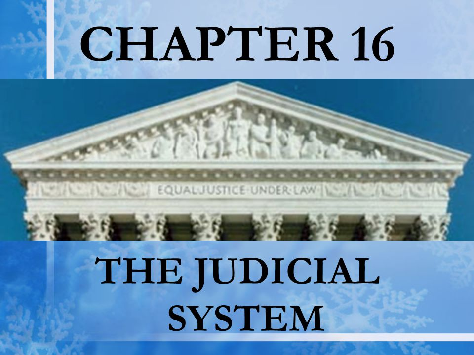 CHAPTER 16 THE JUDICIAL SYSTEM