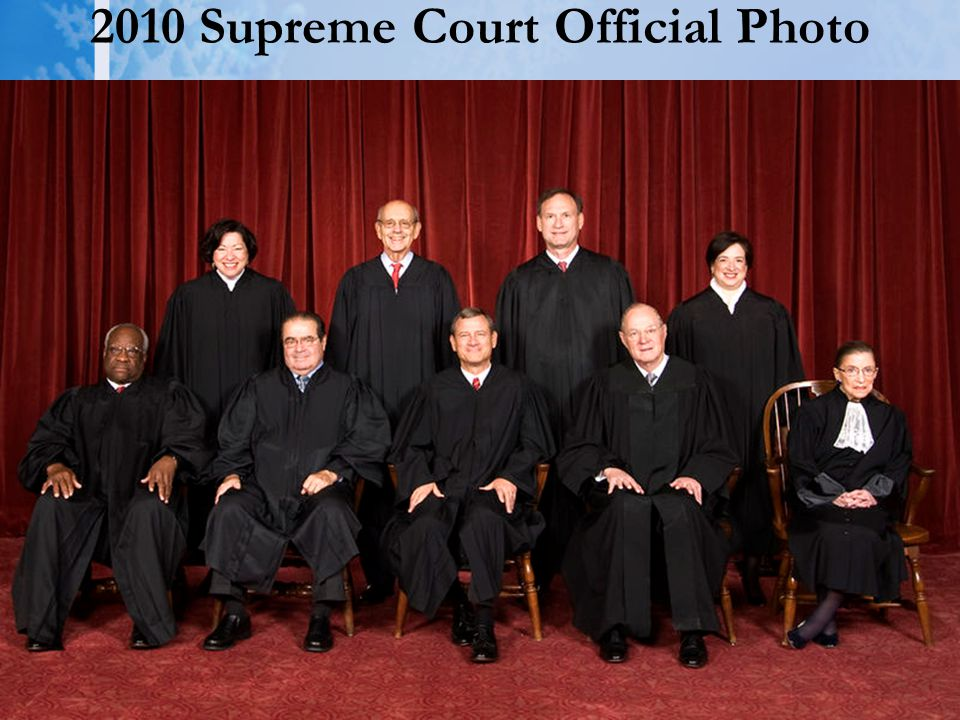 2010 Supreme Court Official Photo