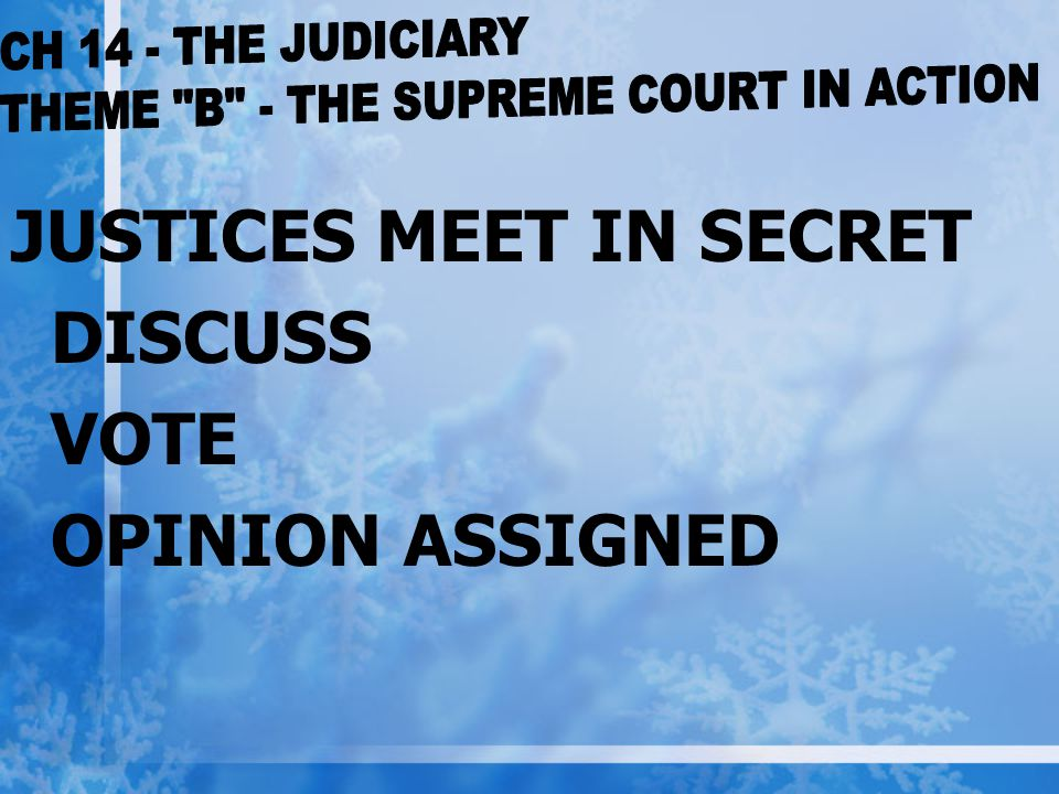 THEME B - THE SUPREME COURT IN ACTION