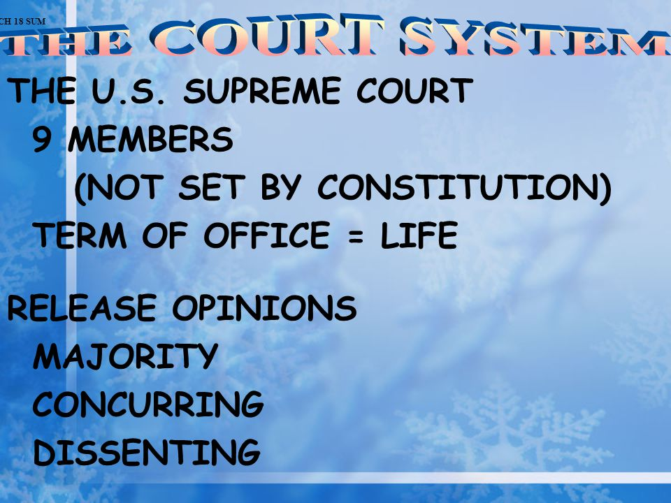 (NOT SET BY CONSTITUTION) TERM OF OFFICE = LIFE RELEASE OPINIONS