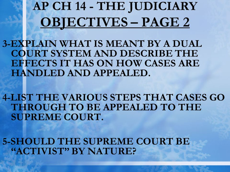 AP CH 14 - THE JUDICIARY OBJECTIVES – PAGE 2