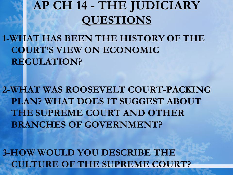 AP CH 14 - THE JUDICIARY QUESTIONS