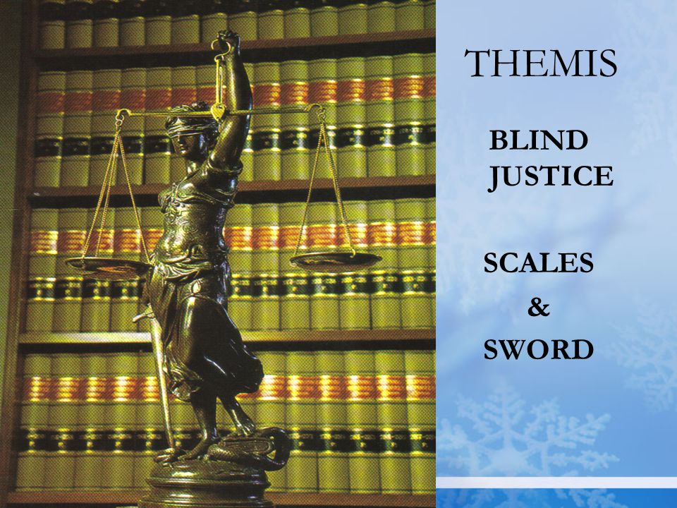 THEMIS BLIND JUSTICE SCALES & SWORD