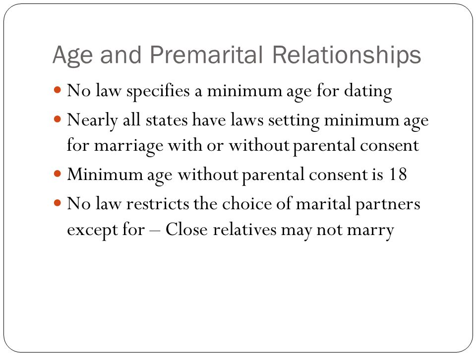 Age and Premarital Relationships