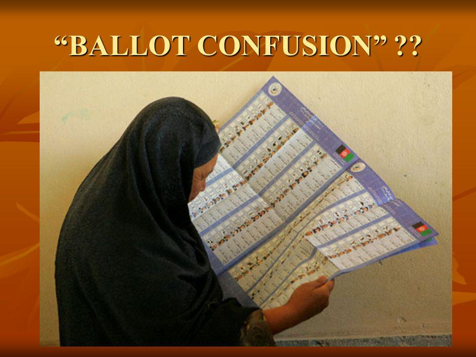 BALLOT CONFUSION