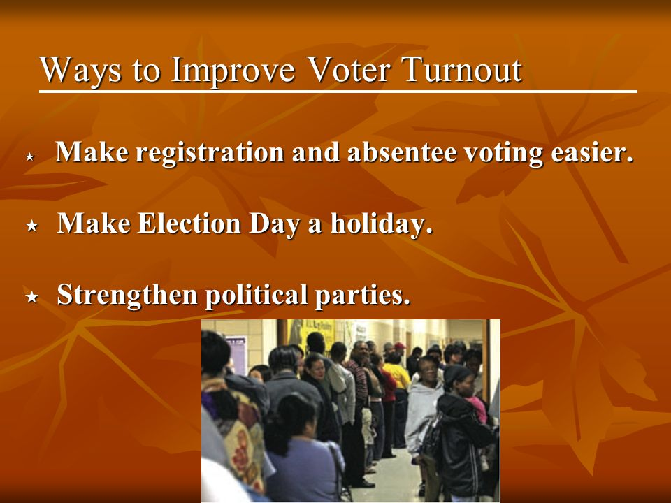 Ways to Improve Voter Turnout