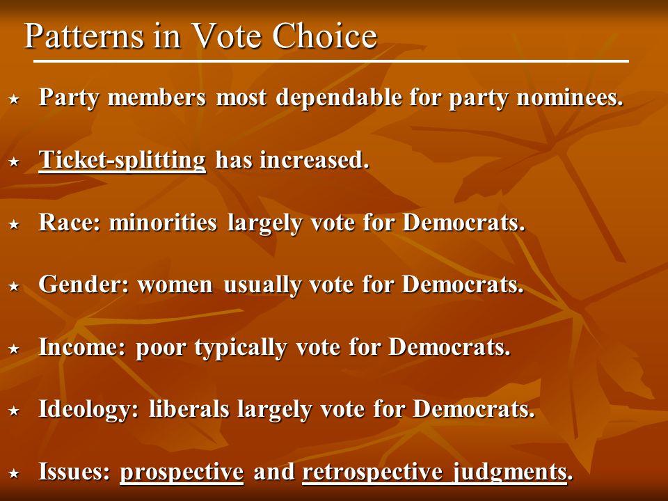 Patterns in Vote Choice