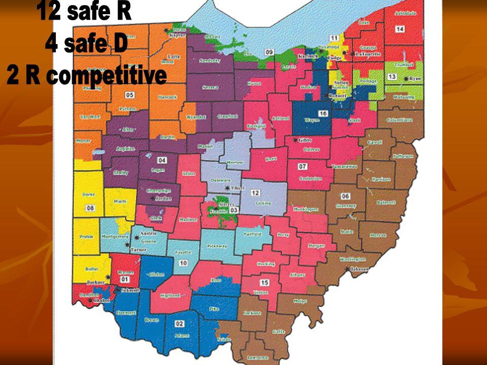 12 safe R 4 safe D 2 R competitive