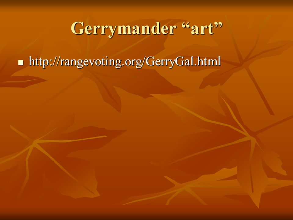 Gerrymander art http://rangevoting.org/GerryGal.html