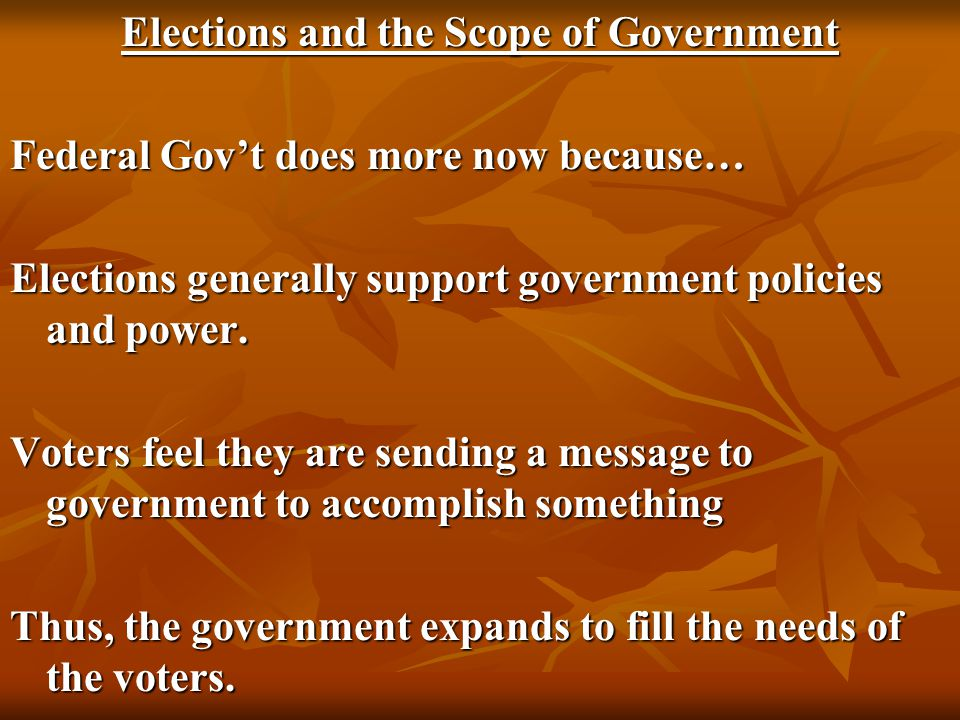 Elections and the Scope of Government