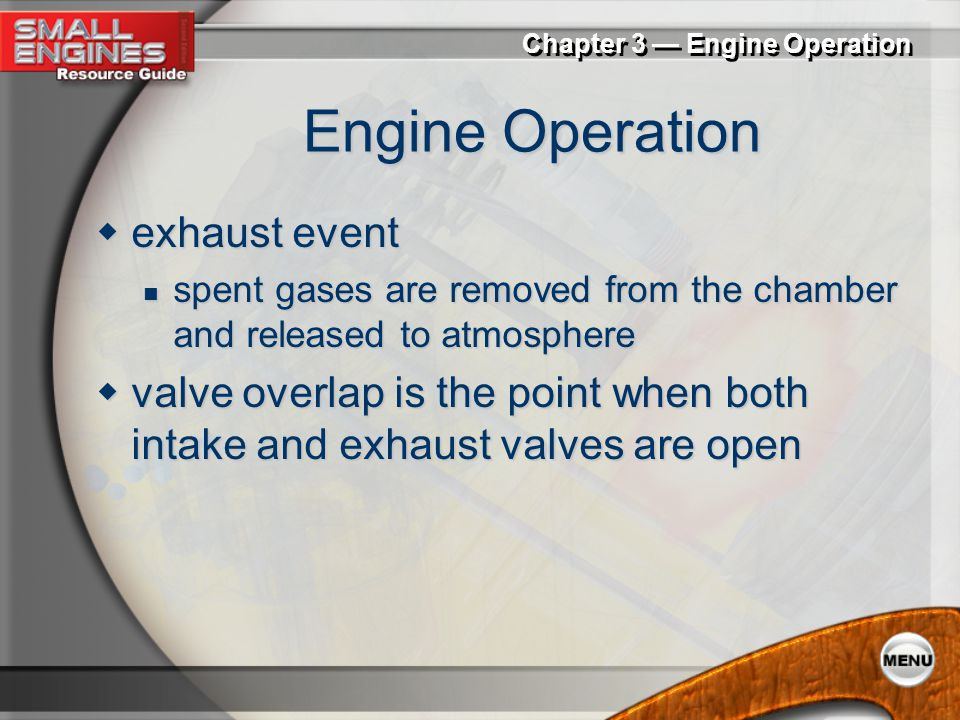 Engine Operation exhaust event