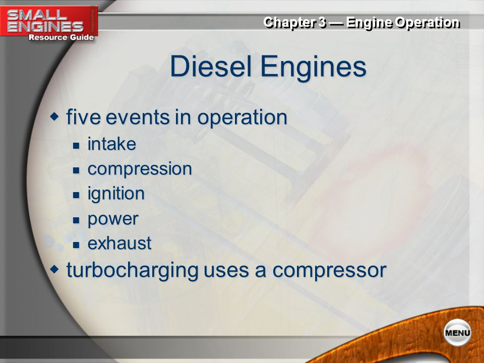 Diesel Engines five events in operation